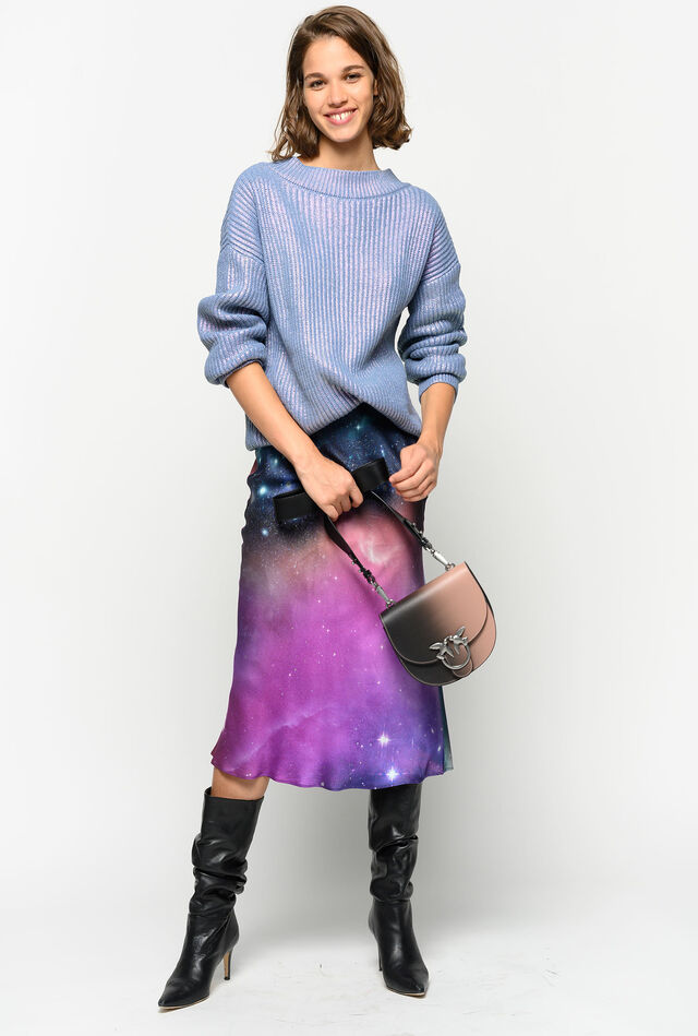Skirt with nebula print