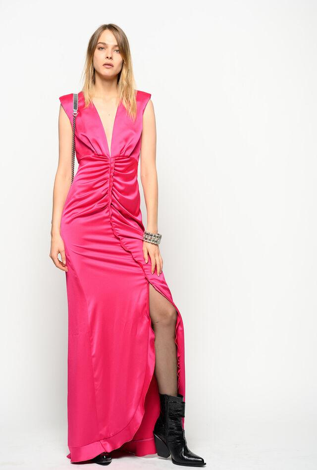 ロング サテン ドレス