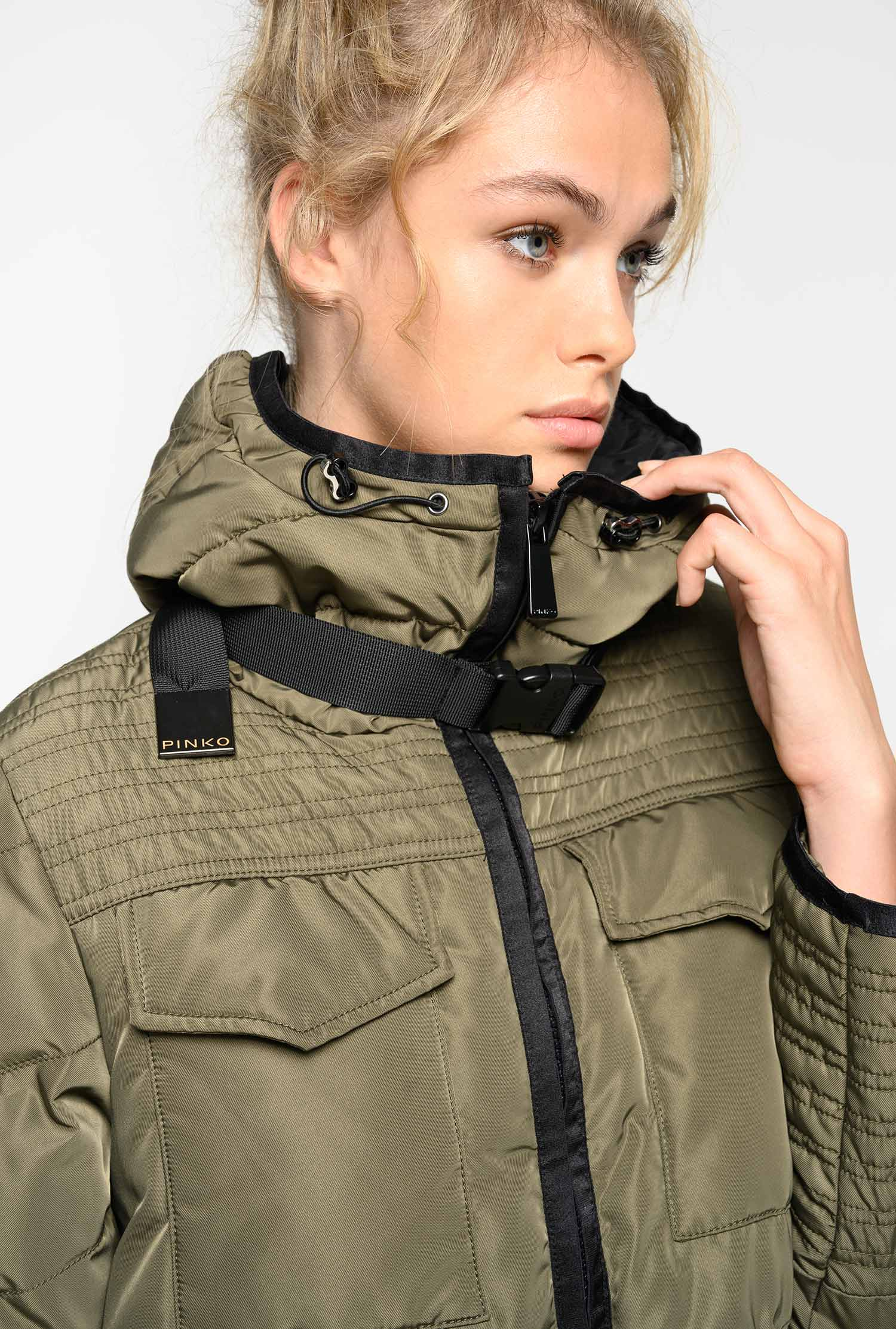 best sneakers bc874 dca95 Long technical quilted coat - PINKO