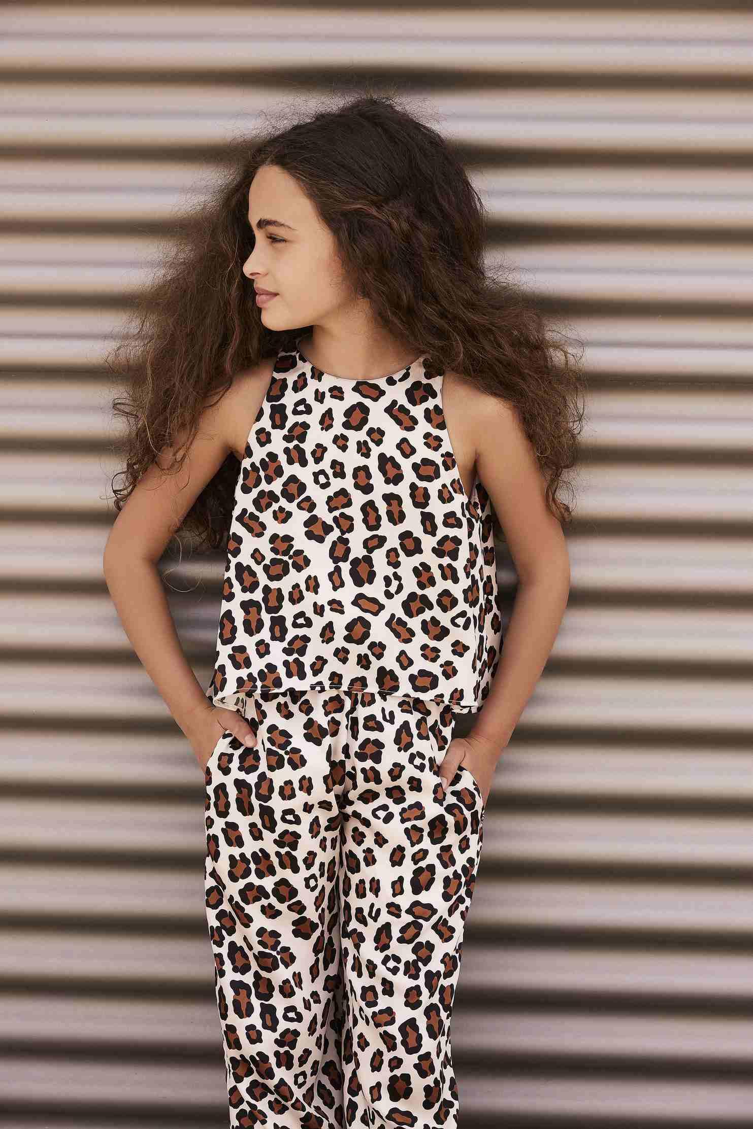 098879356f9f Girls Jumpsuit in leopard print twill - PINKO Up for Juniors   Teens
