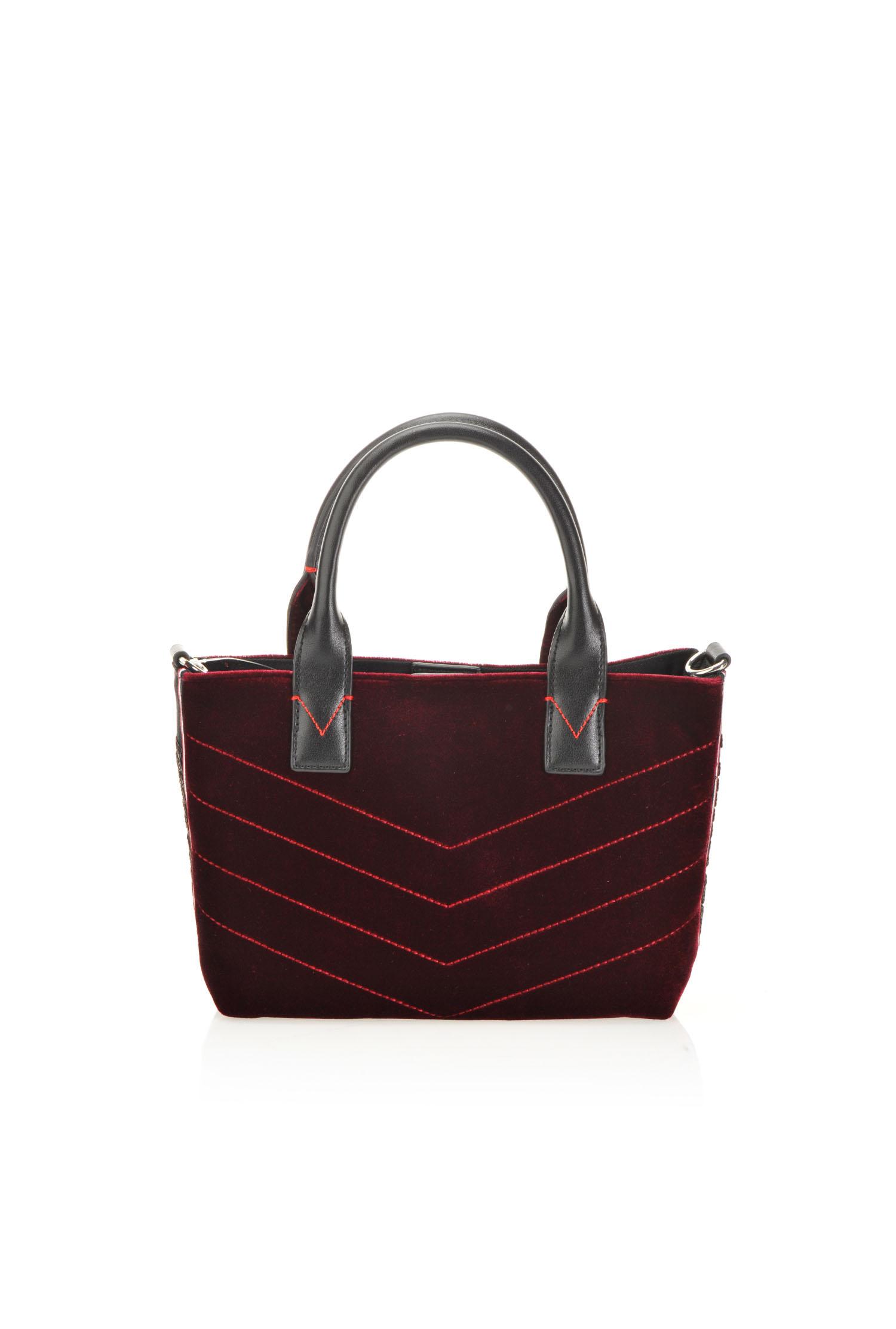 Mini shopping bag in velluto trapuntato - PINKO 567c92bdb90