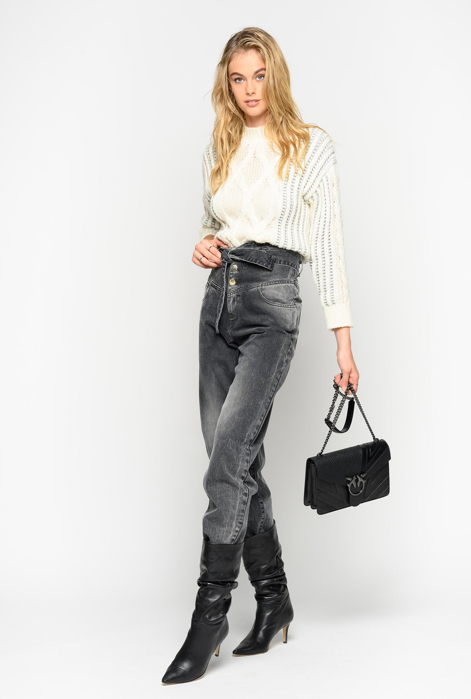 modern design prevalent attractivefashion Bustier-style high-waist jeans - PINKO