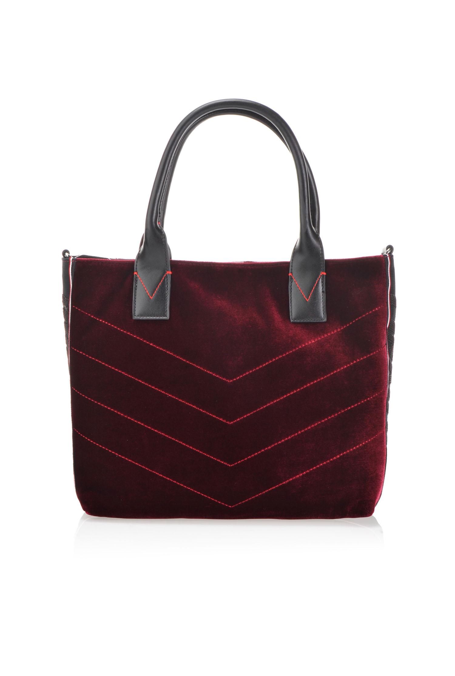 e9429341c33c9 Medium shopping bag in velvet - PINKO
